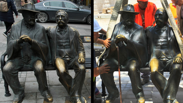 До 10 дни поставят нов бастун на бронзовата статуя на