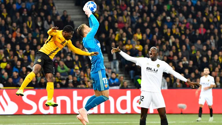Битката на дъното в Група H между Йънг Бойс и Валенсия остана без победител