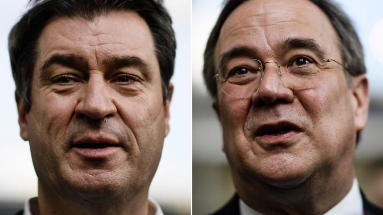 Маркус Зьодер и Армин Лашет не се разбраха кой да наследи Меркел