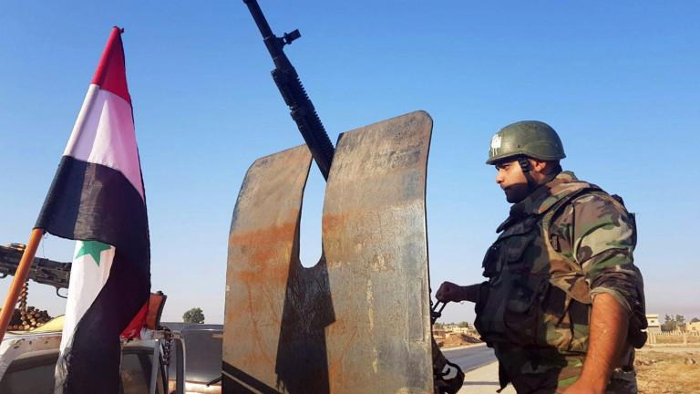 Сирийските правителствени войски напреднаха във вторник до граничния град Кобани,