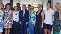 Президентът на МOK Томас Бах се срещна с българските шампиони в гребането