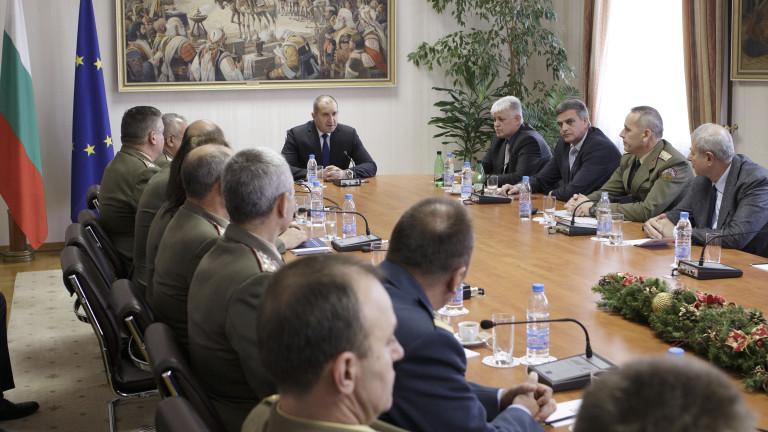 Военната експертиза да стане фактор при важните решения иска Румен Радев