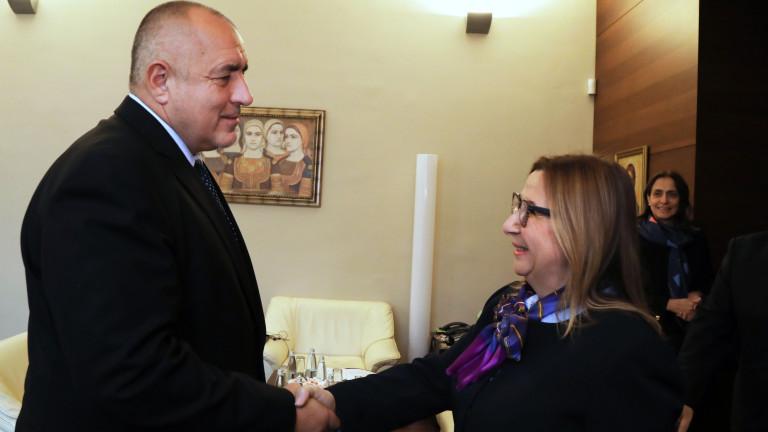 Премиерът Бойко Борисов и турският министър на търговията Рухсар Пекджан