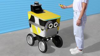 Анимиран робот доставя храна в Сан Франциско
