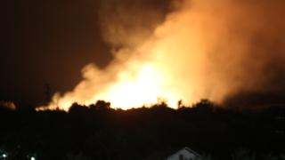 Пожар пламна във вилната зона на Казанлък