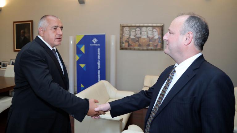 Премиерът Бойко Борисов и посланикът на САЩ в България Ерик
