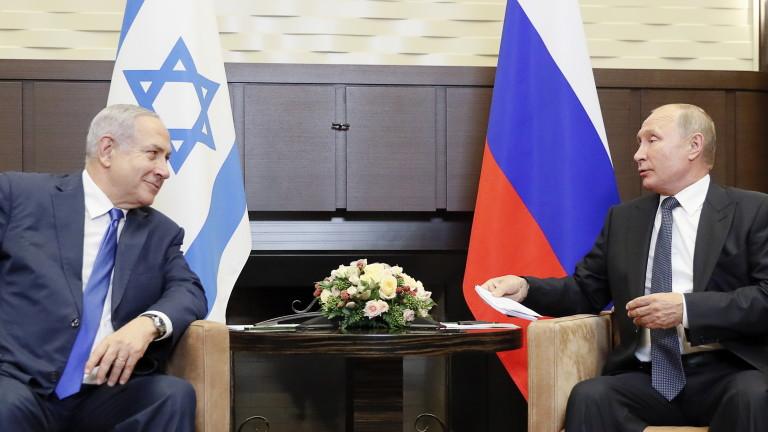 Нетаняху и Путин обсъдиха сигурността в Близкия изток
