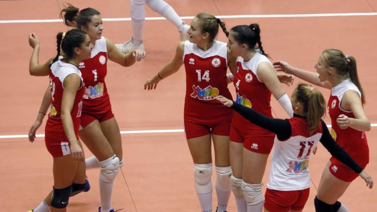 Волейболистките на ЦСКА победиха като домакини Раковски (Димитровград) с 3:0