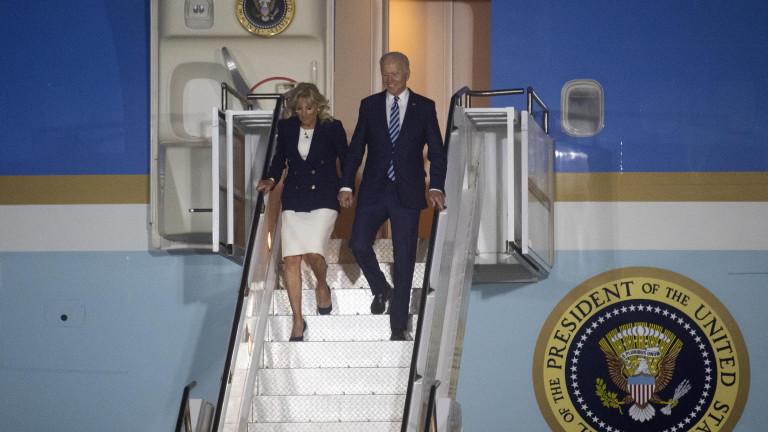 Британският премиер Борис Джонсън и американският президент Джо Байдън в