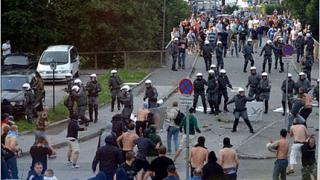 Полицай застреля фен на Лацио в Италия