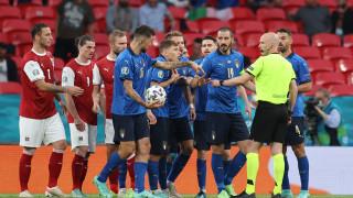 Италия - Австрия 2:1 (Развой на срещата по минути)