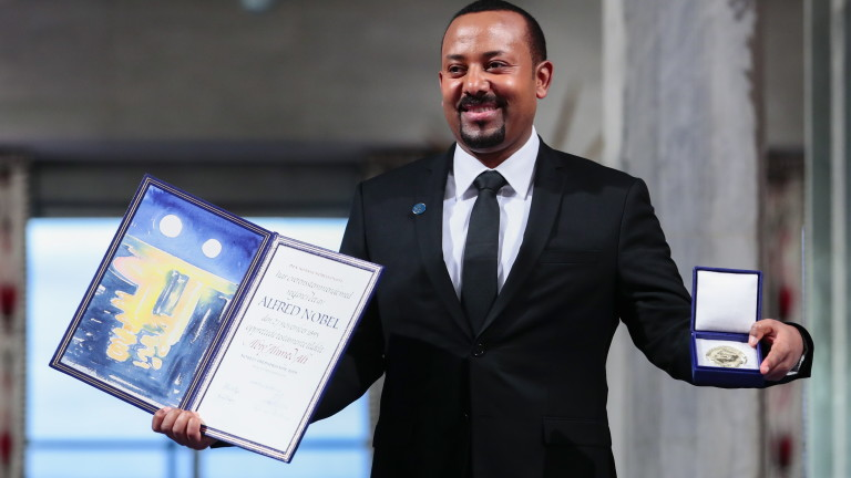 Премиерът на Етиопия Абий Ахмед Али, удостоен с Нобеловата награда