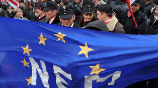 Унгарски националисти гориха европейския флаг