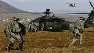 Американски войници в Косово проведоха учение