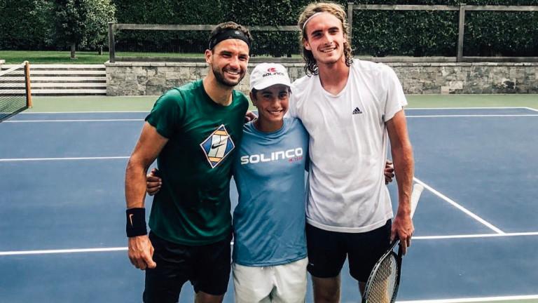 Григор Димитров тренира със Стефанос Циципас в Ню Йорк