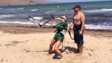 Джина Стоева залитна по кайт-сърфинг