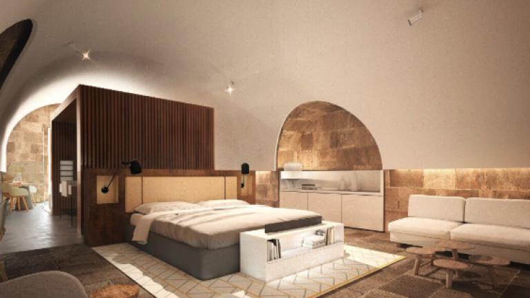 Така ще изглеждат някои от спалните в бъдещия хотел.