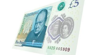 Новата британска банкнота от £5 достигна 140 пъти над номиналната си стойност в интернет