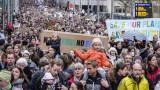 Хиляди протестиращи в Брюксел призовават за борба с климатичните промени