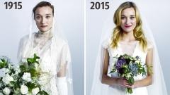 Как се е променила сватбената рокля през годините? (ВИДЕО)