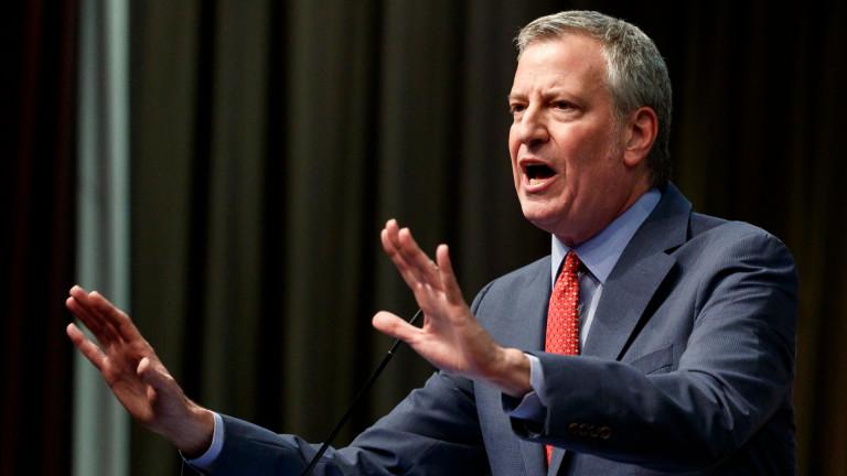 Кметът на Ню Йорк Бил де Блазио се кандидатира за президент на САЩ