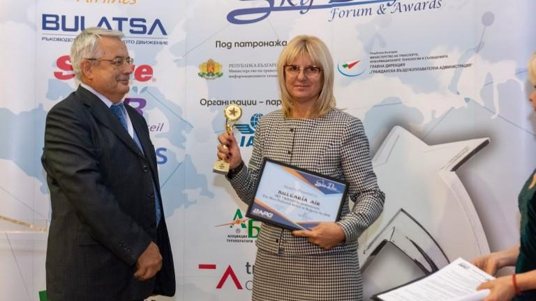 """""""България Ер"""" взе три приза от наградите Sky Awards 2018"""