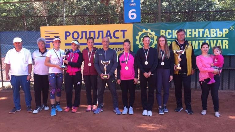 Снимка: Левски e шампион на Държавното отборно първенство по тенис за жени