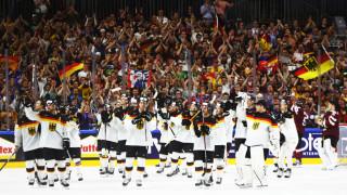 Германия победи Финландия и избяга от Русия на Световното по хокей на лед