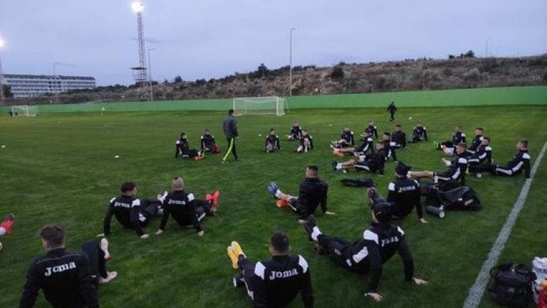 Славия проведе тренировка на турска земя след пристигането на тима