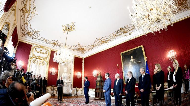 Президентът на Австрия назначи новите министри в кабинета на Курц
