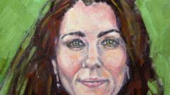 Портрет на Кейт втрещи двореца
