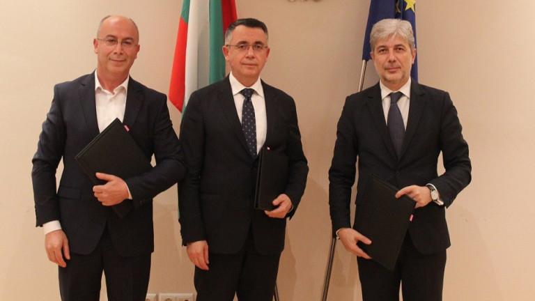Министърът на околната среда и водите Нено Димов, кметът на