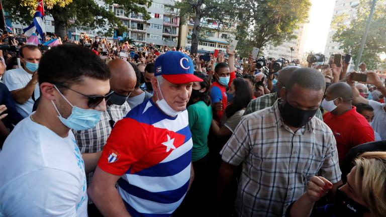 Президентът на Куба нарочи протест на художници за заговор на САЩ