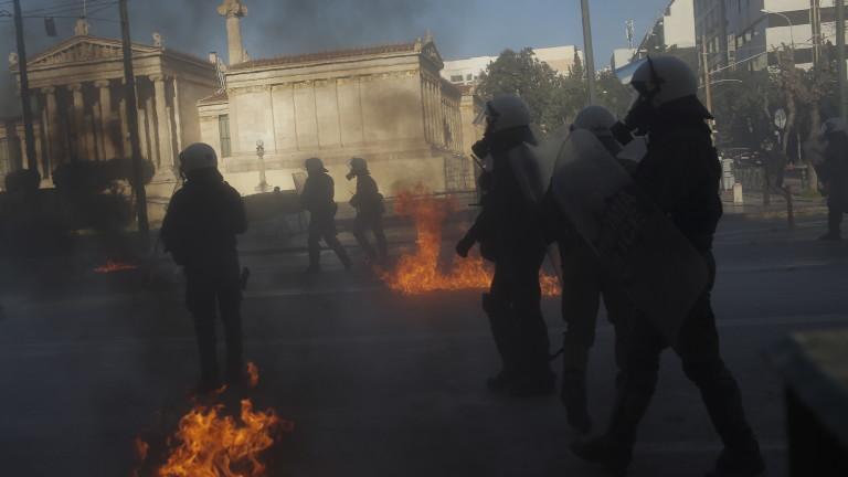 Има задържани на студентския протест в Атина