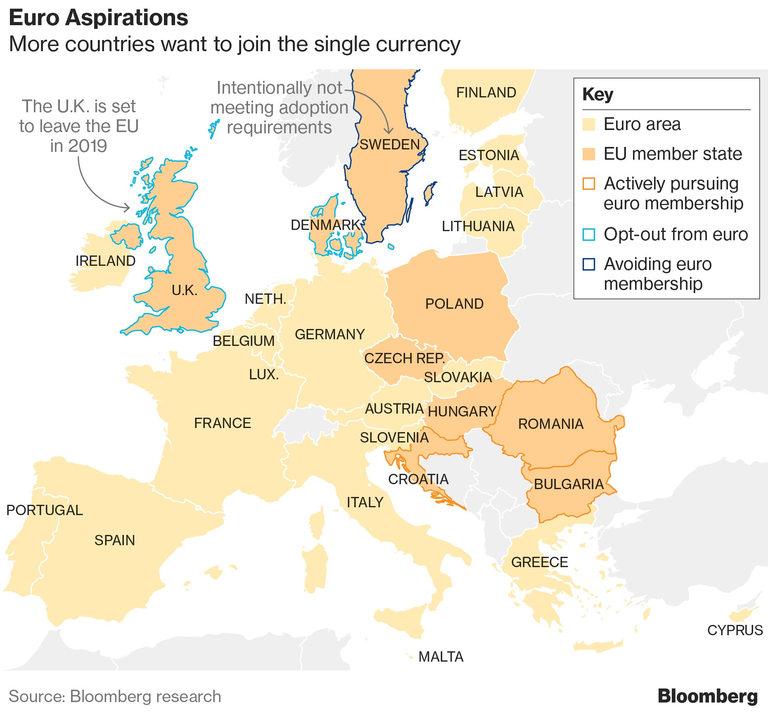 Все повече държави от ЕС искат да приемат еврото