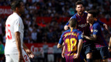 Кой друг, ако не Меси? Звездата на Барселона измъкна победата в Севиля!