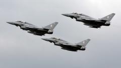 Великобритания вдигна по спешност бойна авиация заради руски изтребител/и