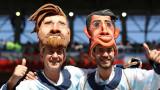 Фенка на Аржентина просна на земята бразилски запалянко (ВИДЕО)