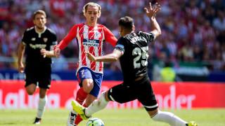 Атлетико (Мадрид) - Севиля 1:2 (Развой на срещата по минути)