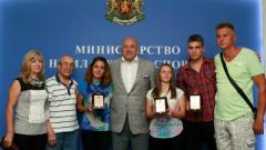 Министър Кралев награди българските спортисти с увреден слух