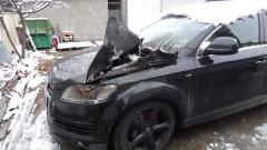 Запалиха джип на бизнесмен в Благоевград