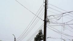 Редица селища без ток заради обледени и скъсани от мокрия сняг проводници