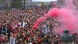 """Безредици в Белгия след загубата на """"червените дяволи"""" от Франция"""