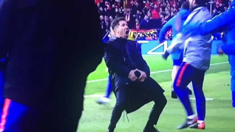 УЕФА наказва Диего Симеоне заради грозните жестове на мача с Ювентус