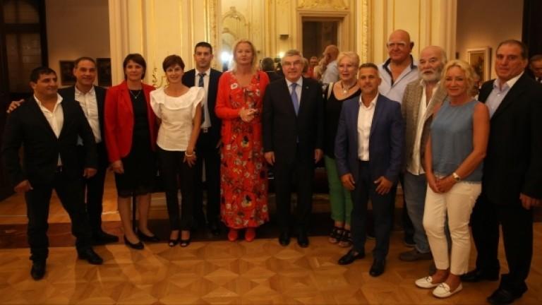 Президентът на МОК Томaс Бaх се срещна с български олимпийски