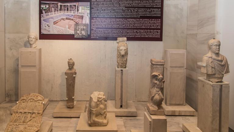 НИМ се гордее с четири глави на римски императори
