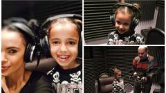 Мария и дъщеря й записаха коледна песен