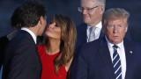 Ето как Мелания Тръмп отвърна на целувката на Доналд Тръмп
