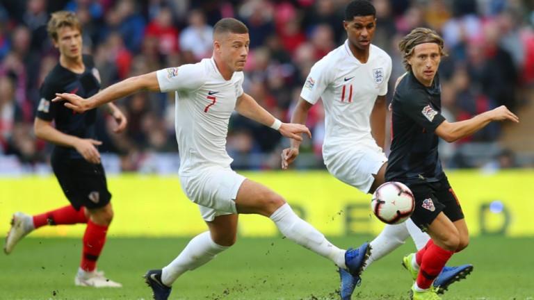 Англия 0 : 1 Хърватия 63′ Али сменя Баркли. 57′
