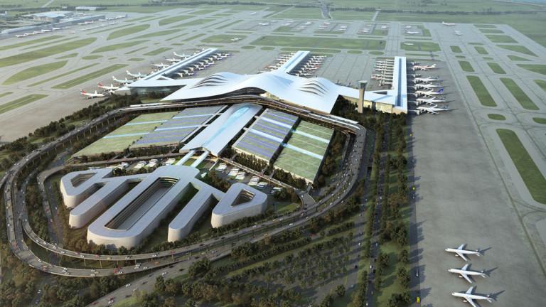 Снимка: Китай строи супермодерно летище в един от най-бедните си региони